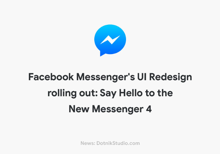 Facebook Messenger App UI Redesign