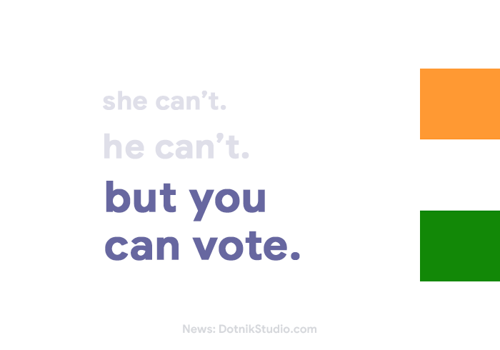She can't. He can't. But you can vote.